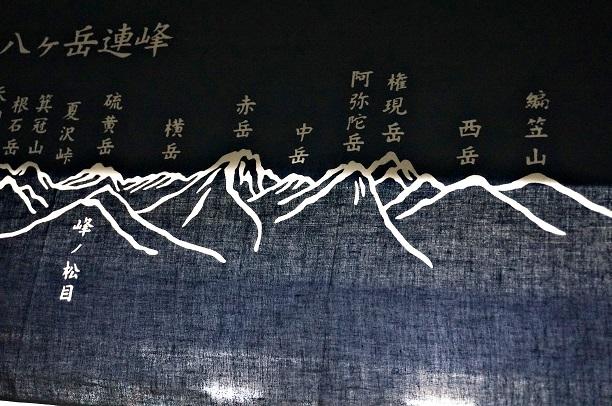 八ヶ岳連峰手ぬぐい.JPG